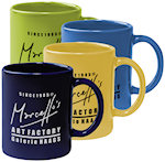 11oz Colored Stoneware Mugs